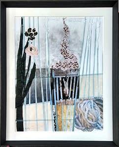 AK Holocausto animal Matadero 2 100x70 cm 2020 mixta. Obra de Helena Zapke.