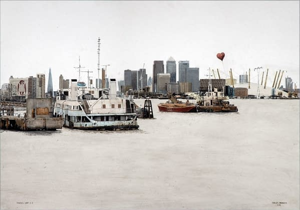 Thames heart 2. 71x100 cm scaled