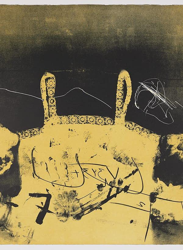 Dentelle, 1977, Antoni Tàpies. Comprar obra grafica online. Expresionismo abstracto.