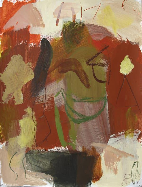 Say Cheese, obra de arte de Eduardo Vega de Seoane. Pintura sobre papel encolado en madera, técnica mixta acrílico y óleo, mide 65 cm. de alto por 50 cm. de largo. Obra realizada en 2016.