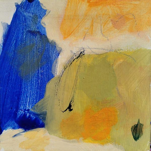 Obra de Arte de Eduardo Vega de Seoane, Abstracción lírica, Expresionismo abstracto, Expresionismo lírico, pintura poética Azul, Pintura sobre lienzo, técnica mixta acrílico y óleo, mide 30 cm. de alto por 30 cm. de largo. Obra realizada en 2015.