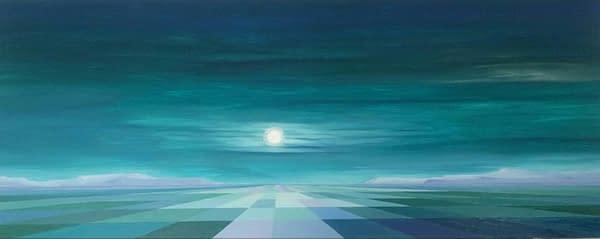 30 Luna llena de agosto. 40 X 100 cm. Oleo madera. scaled 1