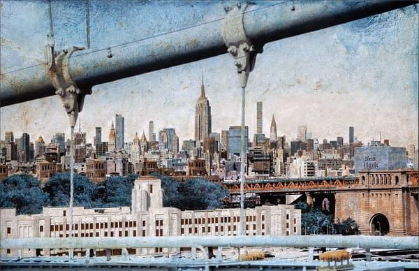Midtown From Brooklyn Bridge 65x100 cm scaled