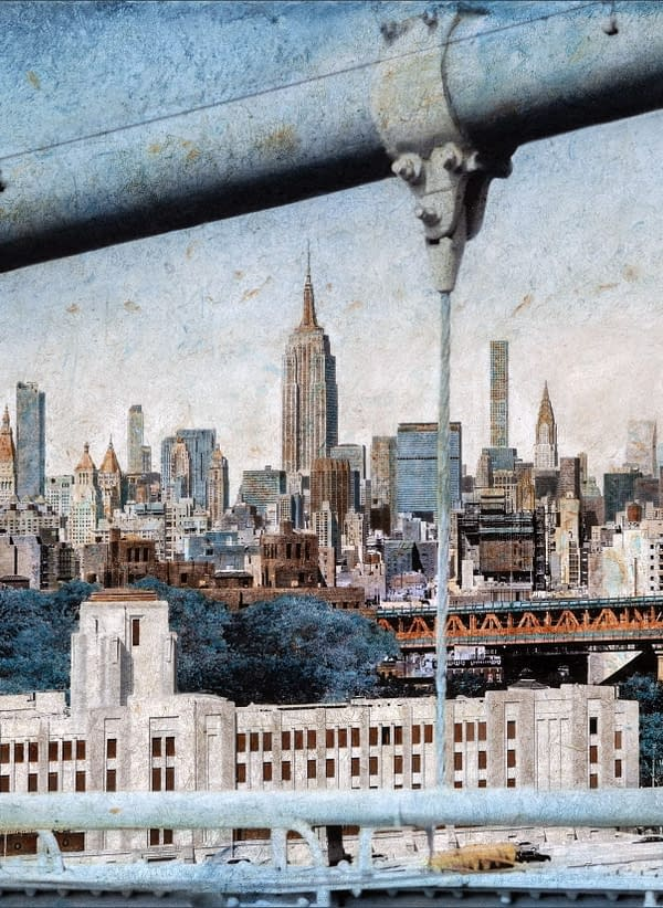 Midtown From Brooklyn Bridge 65x100 cm scaled