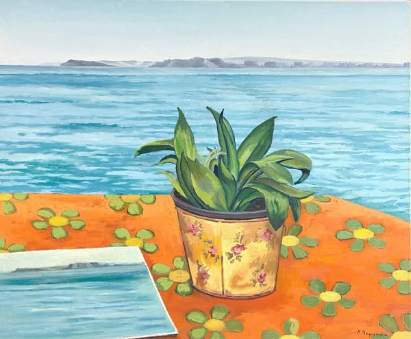 Pintando Cala Figuera,obra de Marietta Negueruela.
