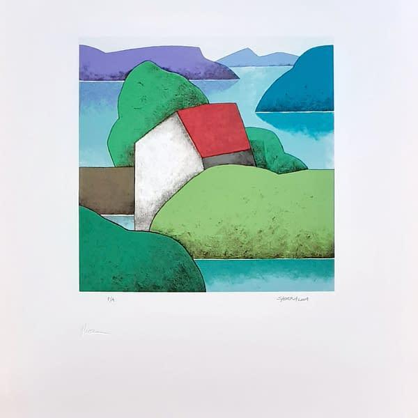 Obra del pintor Manuel Sierra, Desde mi Ventana. Carpeta de 3 serigrafías · Papel Biblos 250gr. · Medida papel: 70×50 cm. · Edición: 60 ejemplares · Firmada y numerada por el autor .