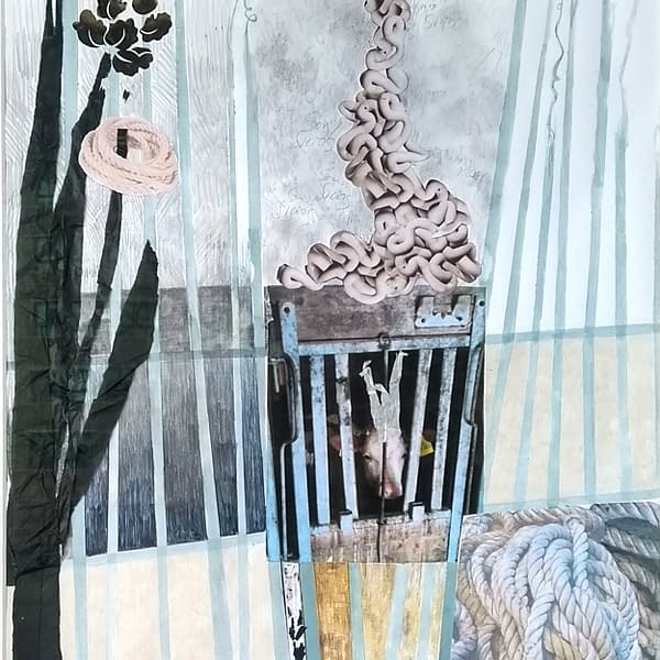 AK Holocausto animal Matadero 2 SIN MARCO 100x70 cm 2020 mixta